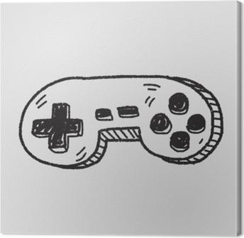 doodle game controller Canvas Print