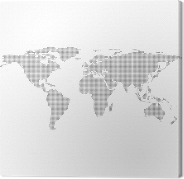 Dots grey world map vector illustration canvas print pixers we dots grey world map vector illustration canvas print gumiabroncs Image collections