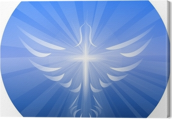 Dove Representing God's Holy Spirit Canvas Print