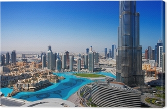Downtown Dubai is a popular place for shopping and sightseeing Canvas Print