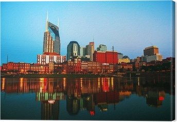 Downtown Nashville cityscape in the morning Canvas Print
