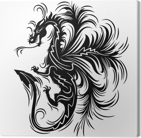 Drago Tatuaggio Simbolo Dragon Tattoo Symbol 2012 Canvas Print