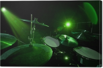 Drums in the green light Canvas Print