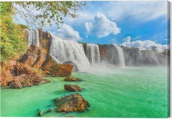 Dry Nur waterfall Canvas Print