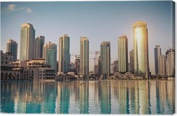 Dubaï ville Canvas Print