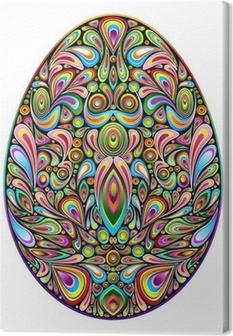Easter Egg Psychedelic Art Design Uovo di Pasqua Ornamentale Canvas Print