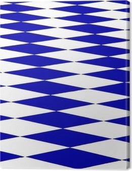 échiquier bleu Canvas Print