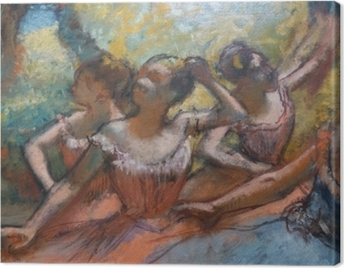 Edgar Degas - Four Dancers on Stage Canvas Print