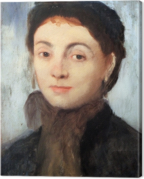 Edgar Degas - Portrait of Josephine Gaujelin Canvas Print - Reproductions