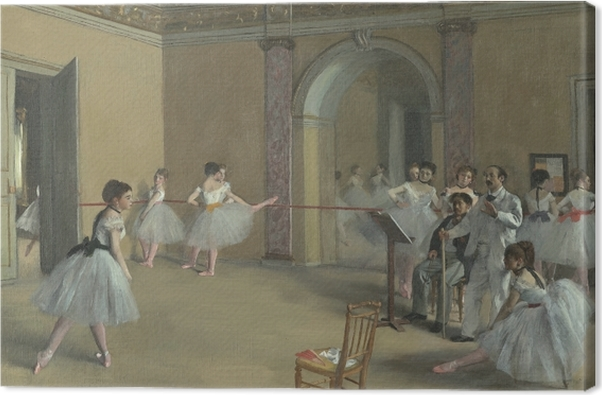 Edgar Degas - Rehearsal Hall of the Opera on the Rue Le Peletier Canvas Print - Reproductions