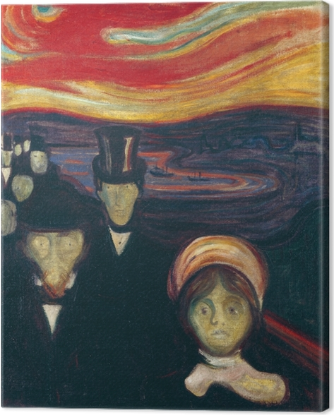 Edvard Munch - Anxiety Canvas Print - Reproductions