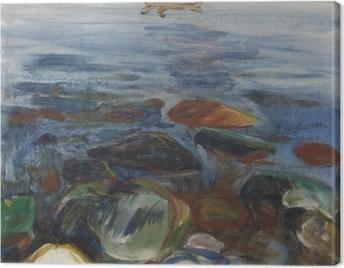 Edvard Munch - Boat on the Sea Canvas Print