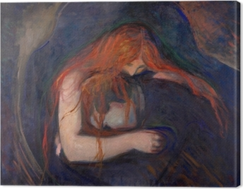 Edvard Munch - Vampire Canvas Print