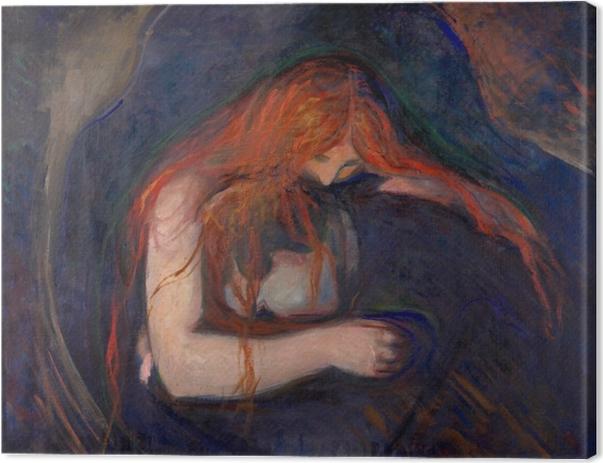 Edvard Munch - Vampire Canvas Print - Reproductions