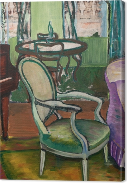 Efa Prudence Heward - Study of the Drawing Room of the Artist Canvas Print - Reproductions