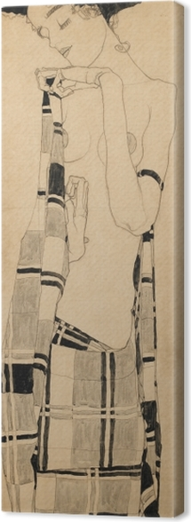 Egon Schiele - Standing Girl Canvas Print - Reproductions
