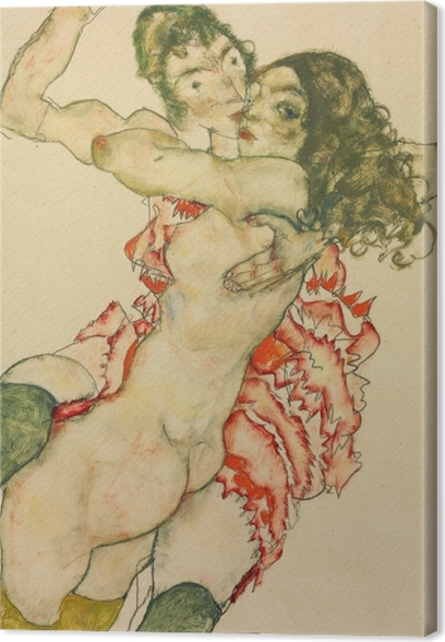 Egon Schiele - Two Women Canvas Print - Reproductions