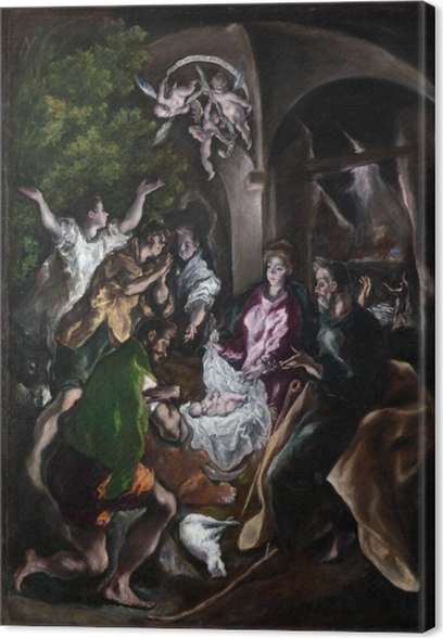 El Greco - Adoration of the Shephards Canvas Print - Reproductions