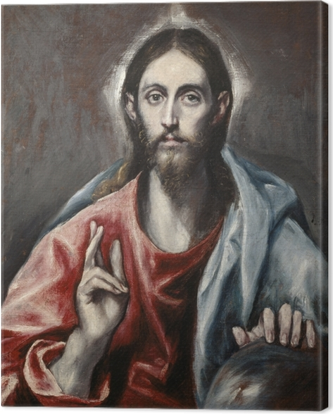 El Greco - Christ Blessing Canvas Print - Reproductions