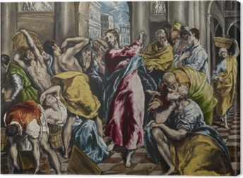 El Greco - Cleaning of the Temple Canvas Print