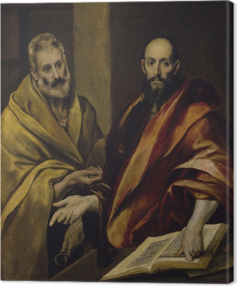 El Greco - Saint Peter and Saint Paul Canvas Print - Reproductions