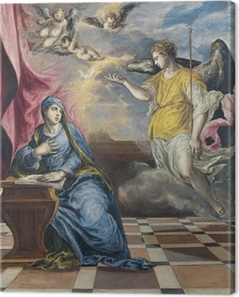 El Greco - The Annunciation Canvas Print