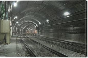 Empty Subway Tunnel Canvas Print