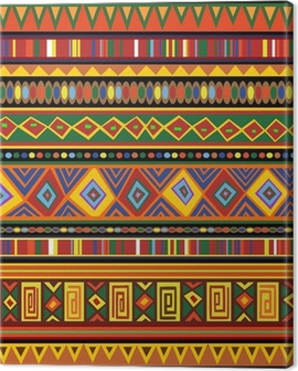 Ethnic Colorful Pattern Africa Art-Etnico Colori Arte Africa Canvas Print