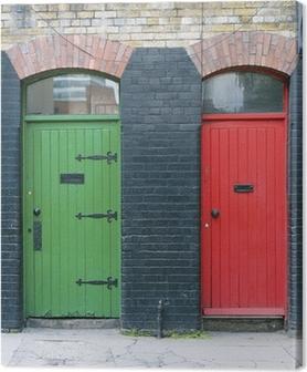 Exterior doors, Ireland Canvas Print