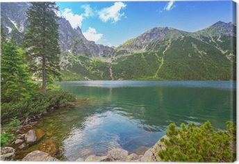 Eye of the Sea lake in Tatra mountains, Poland Canvas Print
