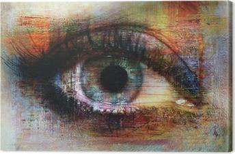 eye texture Canvas Print