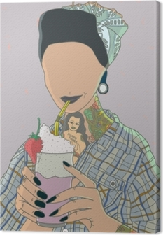 Faceless woman - Ricardo X Parker Canvas Print