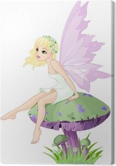 Fairy on the Mushroom Canvas Print