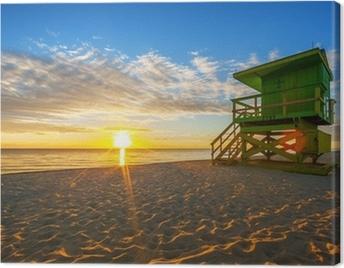 Famous Miami South Beach sunrise Canvas Print