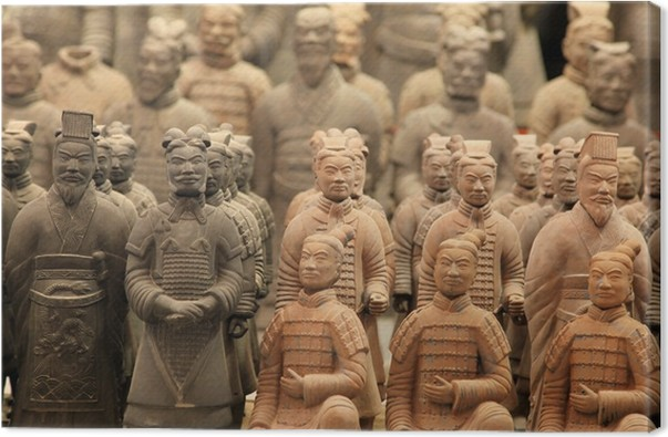 Famous Terracotta Warriors In XiAn Qin Shi Huangs Tomb China Canvas Print