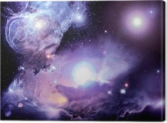 Fantasy Space Nebula Canvas Print