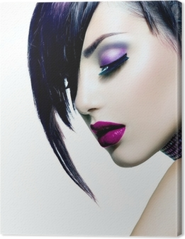 Fashion Beauty Girl. Gorgeous Woman Portrait Canvas Print