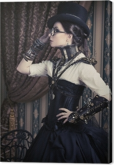 female steampunk Canvas Print