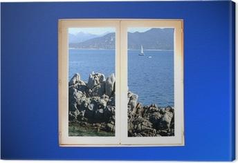 fenêtre sur mer Canvas Print