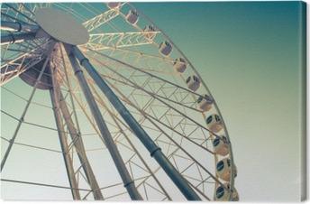 ferris wheel against Canvas Print