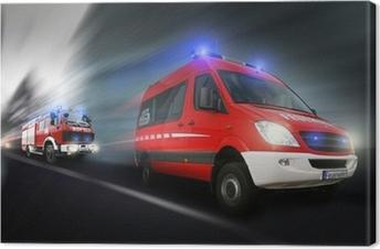 Feuerwehreinsatz Canvas Print