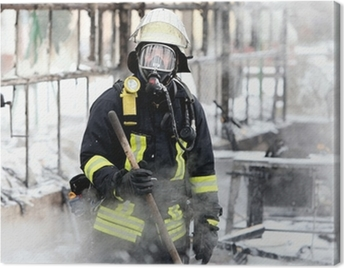 Feuerwehrmann Canvas Print