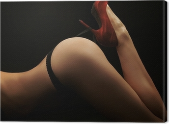Fine art photo of a woman's butt Canvas Print