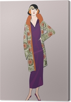 Flapper girls (20's style): Retro fashion party Canvas Print