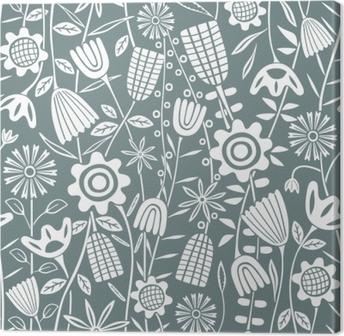 Flower pattern - Kubem Studio Canvas Print