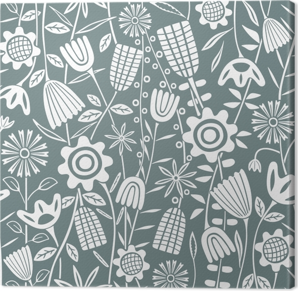 Flower pattern - Kubem Studio Canvas Print - Contemporary artists
