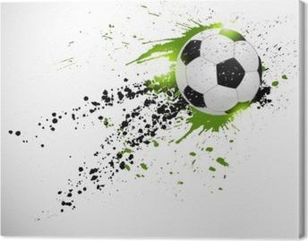 Flying soccer ball Canvas Print