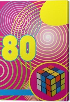 Fond années 80 rumikub Canvas Print