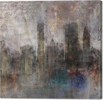 Fond ville grunge Canvas Print