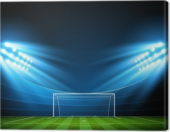 Football arena. Vector Canvas Print